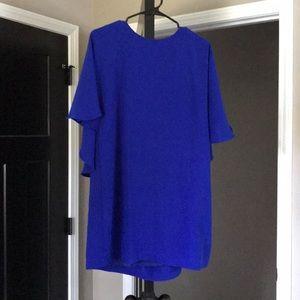 WORN ONCE. Blue cape dress